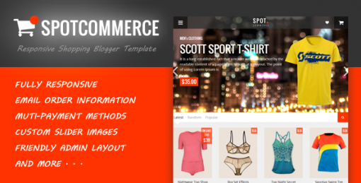 Blogger Shopping Template